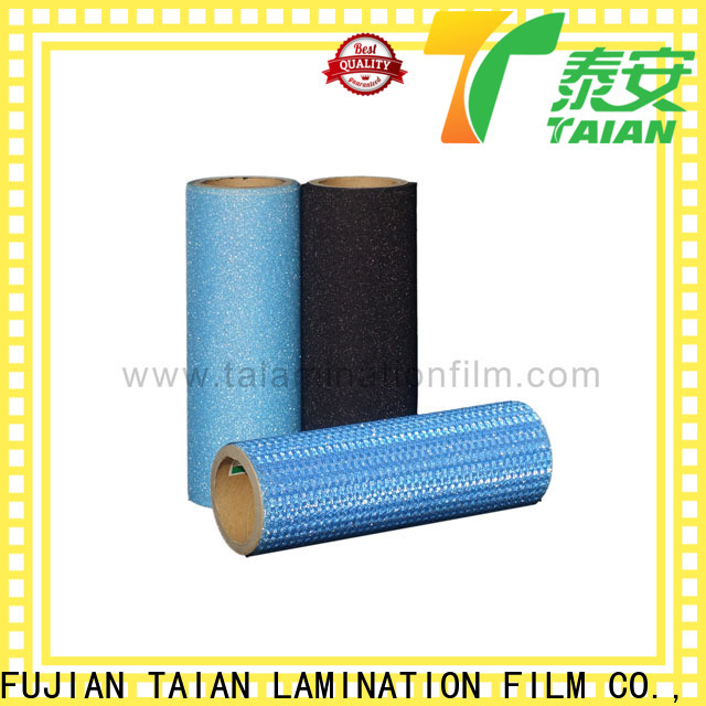 Taian Lamination Film efficient glitter heat transfer vinyl on sale for showing board