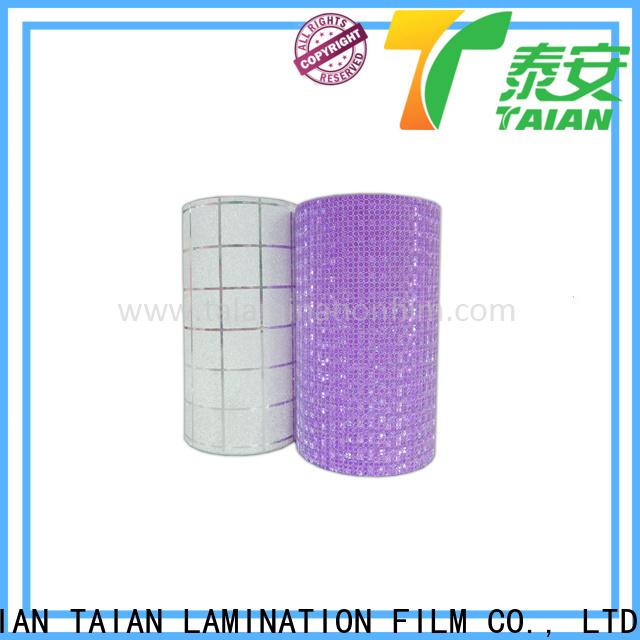 Taian Lamination Film popular glitter heat transfer vinyl manufacturer for medicine