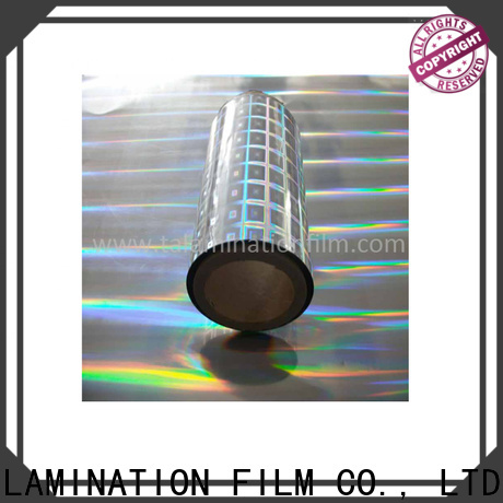Taian Lamination Film colorful holographic paper wholesale for advertisements