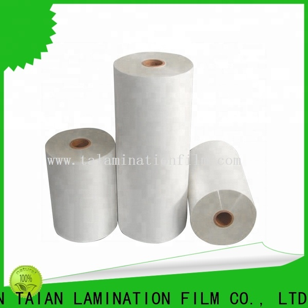 Taian Lamination Film bopp thermal lamination film factory price for cosmetics
