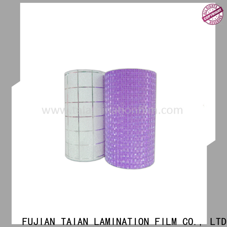 Taian Lamination Film glitter heat transfer vinyl supplier for medicine