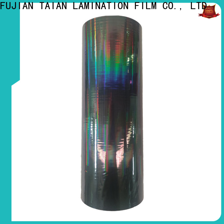 Taian Lamination Film top quality holographic paper personalized for medicine