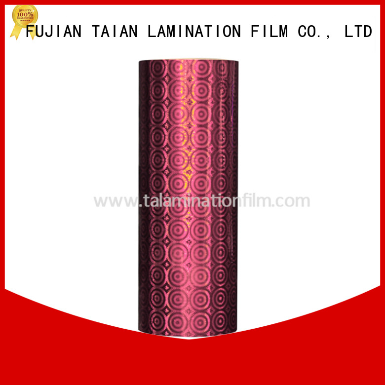 Taian Lamination Film holographic film wholesale for advertisements