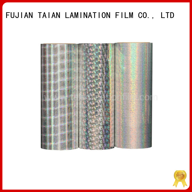 Taian Lamination Film top quality holographic sheet factory price for medicine