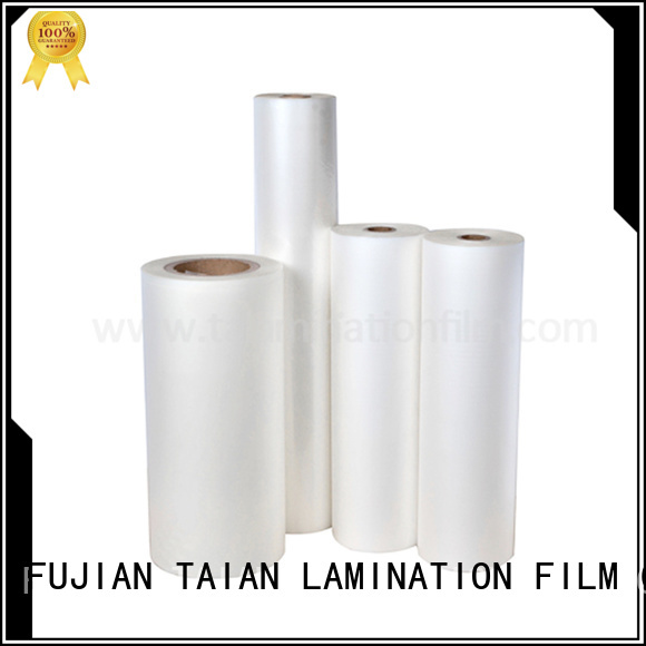 Taian Lamination Film professional transparent foil directly sale for advertisements