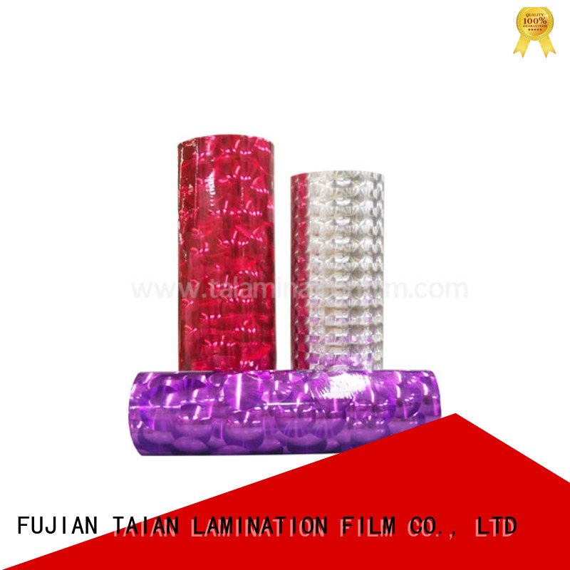 Taian Lamination Film transfer foil personalized for cosmetics