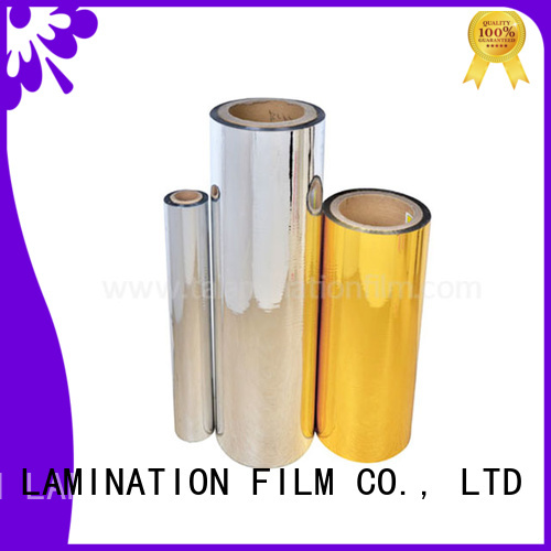 Taian Lamination Film hot selling metalized film design for books