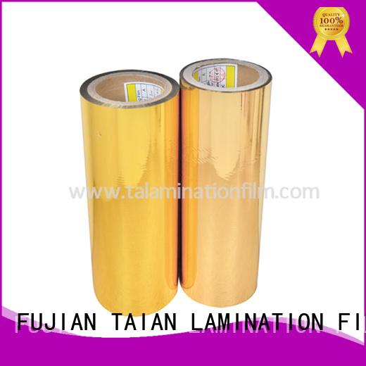 Taian Lamination Film metallic foil factory for magazines