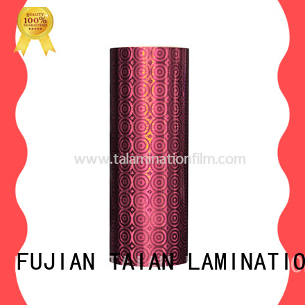 Taian Lamination Film holographic paper factory price for cosmetics