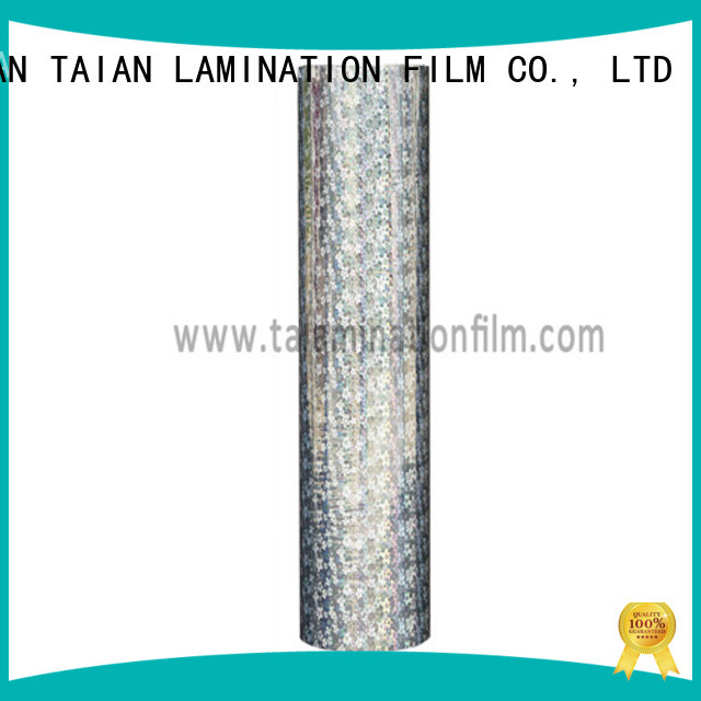Taian Lamination Film cost-effective laser film supplier for cosmetics