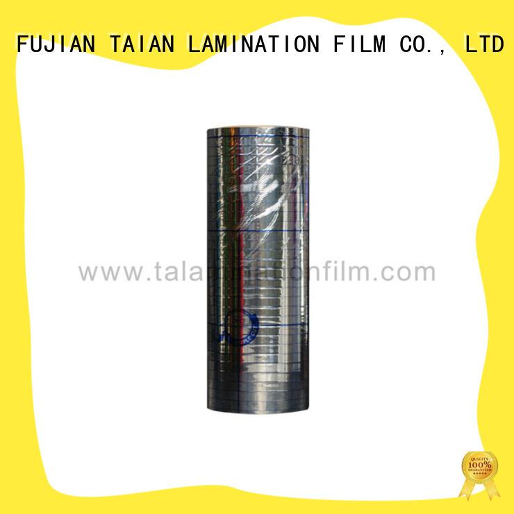 Taian Lamination Film metallized film design for magazines