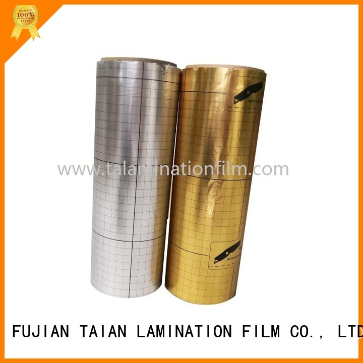 Taian Lamination Film metalized plastic design for magazines
