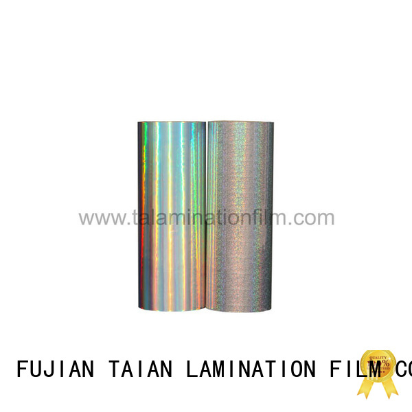 Taian Lamination Film metalized polyester design for books