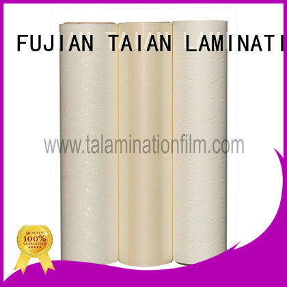 Taian Lamination Film metalized bopp film factory price for advertisements