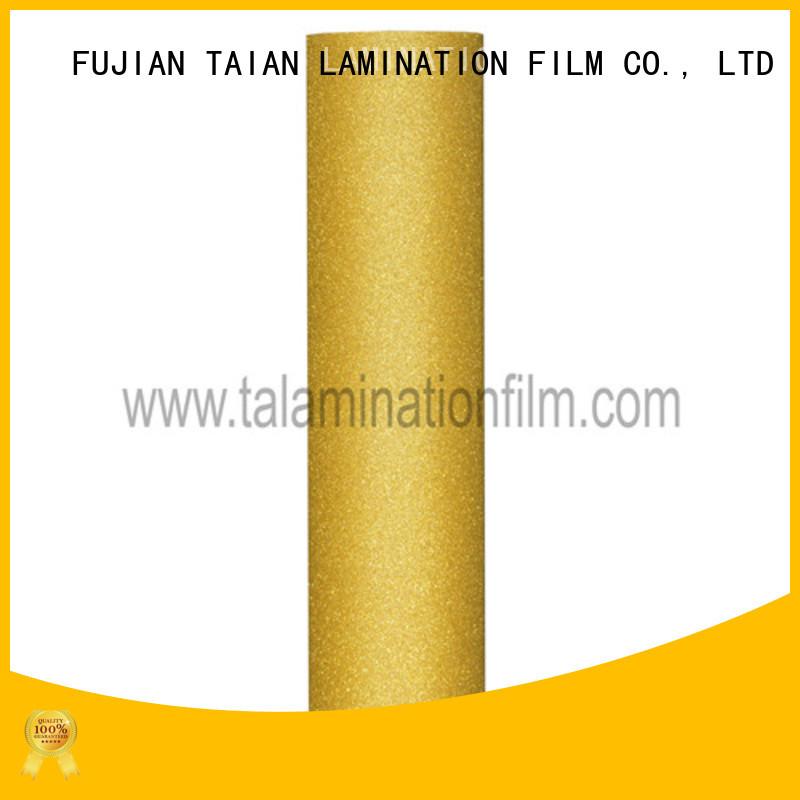 Taian Lamination Film creative glitter adhesive vinyl on sale for advertisements