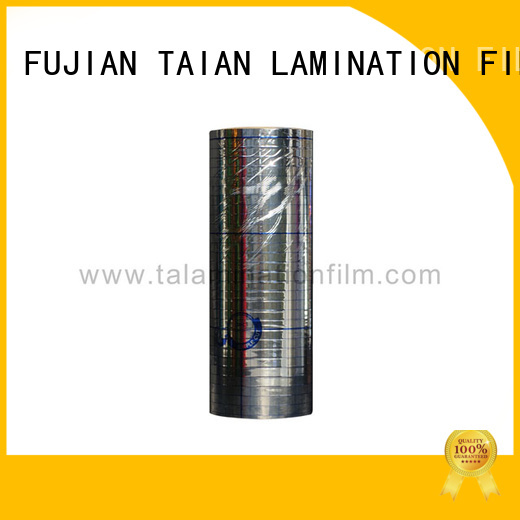 Taian Lamination Film metalized paper design for maps