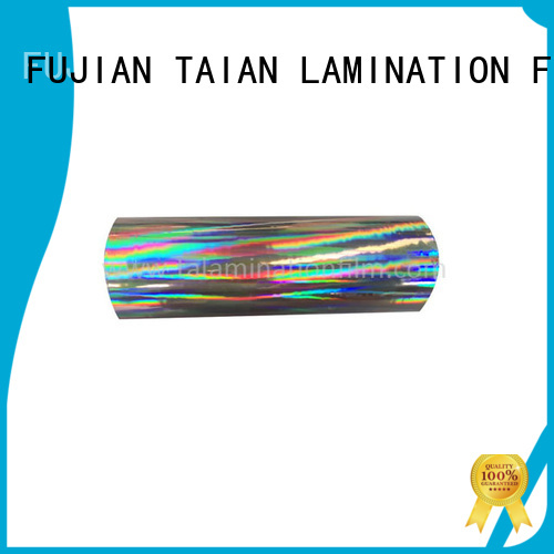 Taian Lamination Film hologram film personalized for advertisements