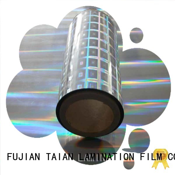Taian Lamination Film convenient holographic film factory price for cosmetics
