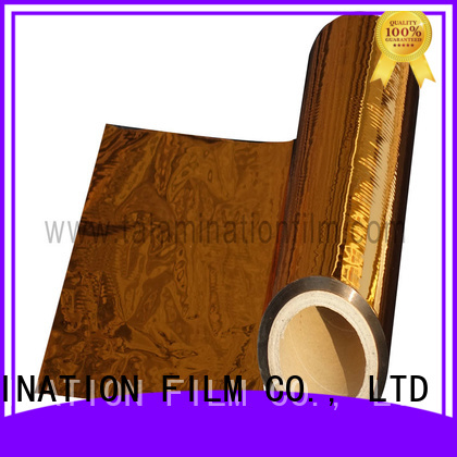 Taian Lamination Film quality metalized polyester with good price for books