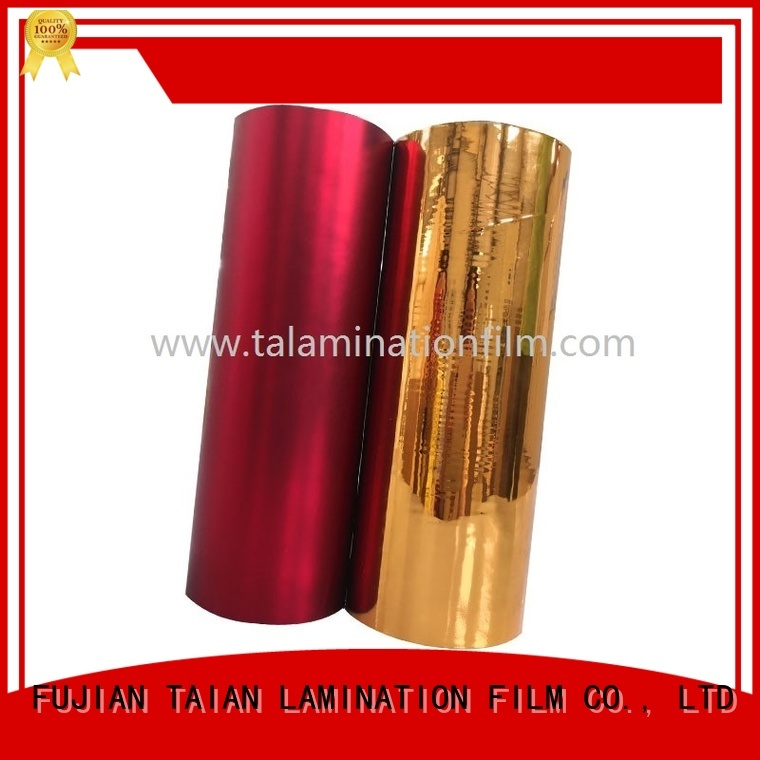 Taian Lamination Film durable metalized paper with good price for maps