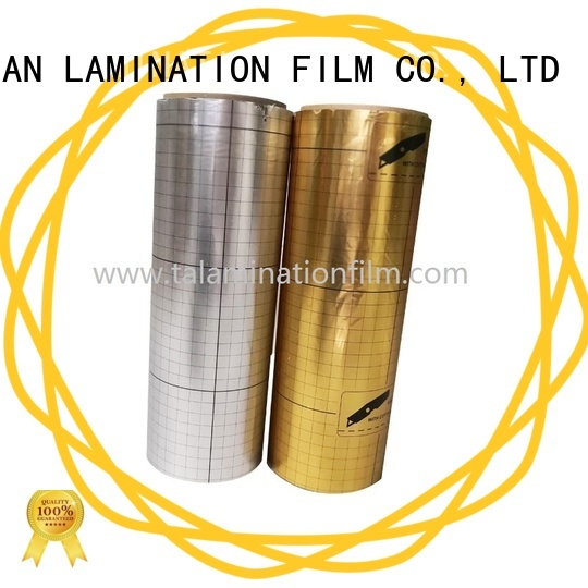 Taian Lamination Film durable metalized polyester film design for magazines
