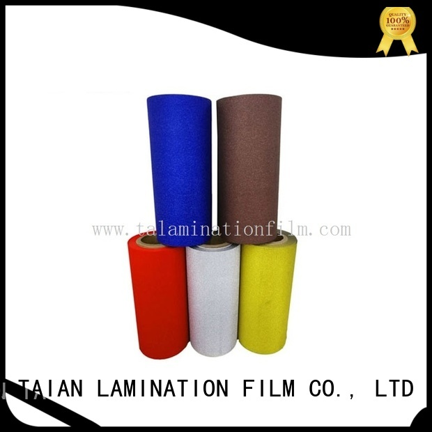 Taian Lamination Film long lasting glitter vinyl wholesale for showing board
