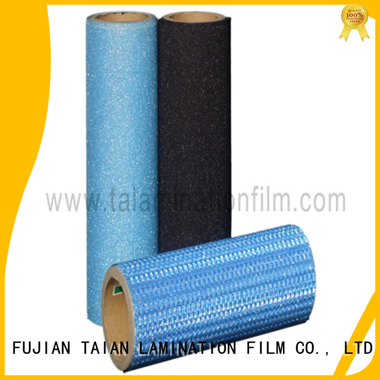 Taian Lamination Film glitter heat transfer vinyl supplier for boxes