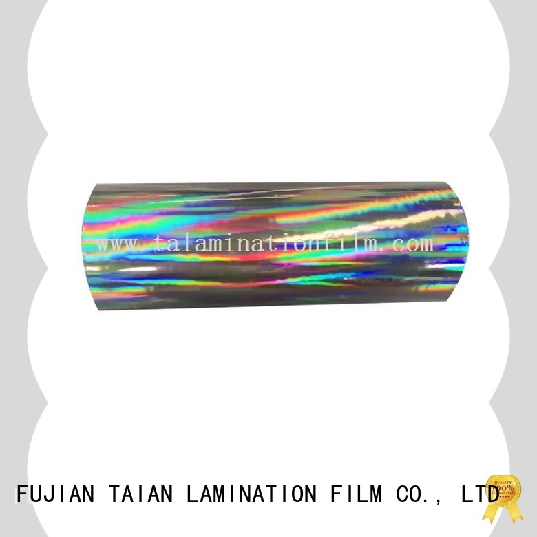Taian Lamination Film convenient holographic window film factory price for digital printing