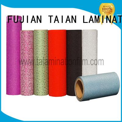 Taian Lamination Film glitter vinyl manufacturer for boxes