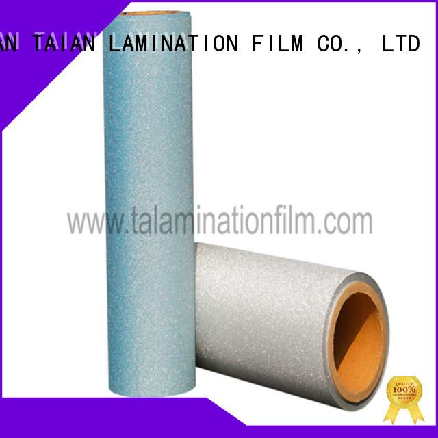 Taian Lamination Film glitter vinyl supplier for showing board