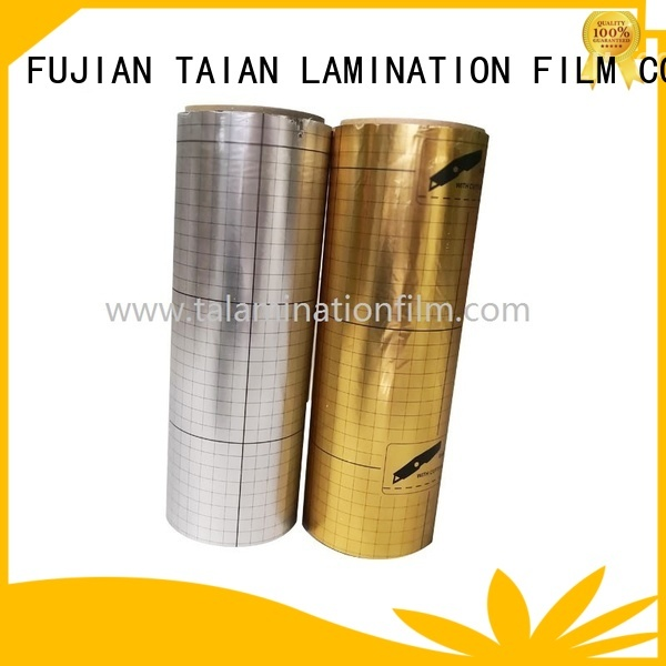 Taian Lamination Film durable metalized polyester design for magazines