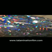 Cullet pattern hologram thermal lamination film